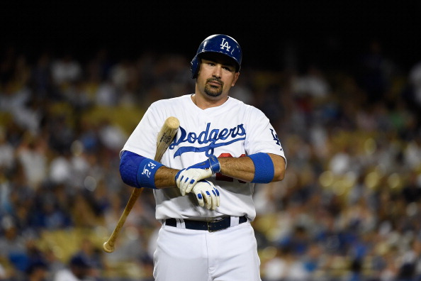 Adrian Gonzalez lead MLB in RBIs last year