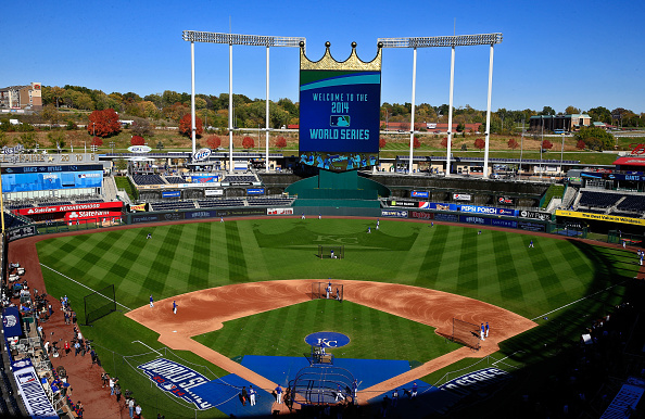 KANSAS CITY, MO - OCTOBER 20:  A general view  during the 2014 World Series Media Day at Kauffman Stadium on October 20, 2014 in Kansas City, Missouri.  (Photo by Jamie Squire/Getty Images)
