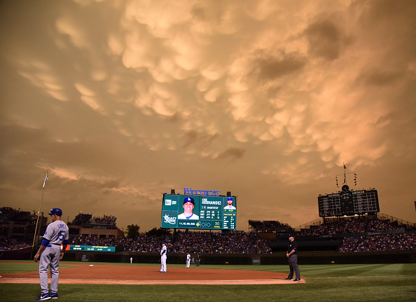 CHICAGO, IL - JUNE 22: A general view of the field during the fifth inning  of a game between the Chicago Cubs and the Los Angeles Dodgers on June 22, 2015 at Wrigley Field in Chicago, Illinois. (Photo by David Banks/Getty Images)